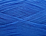 Very thin yarn. It is spinned as two threads. So you will knit as two threads. Yardage information is for only one strand. Fiber Content 100% Acrylic, Brand Ice Yarns, Blue, Yarn Thickness 1 SuperFine  Sock, Fingering, Baby, fnt2-53761