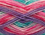 Fiber Content 70% Acrylic, 30% Wool, Turquoise, Pink Shades, Lilac, Brand Ice Yarns, Yarn Thickness 2 Fine  Sport, Baby, fnt2-53773