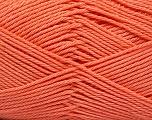 Fiber Content 100% Mercerised Cotton, Light Orange, Brand ICE, Yarn Thickness 2 Fine  Sport, Baby, fnt2-53802