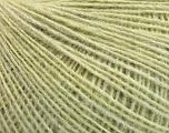 Fasergehalt 50% Merinowolle, 25% Alpaka, 25% Acryl, Light Green melange, Brand Ice Yarns, fnt2-53812
