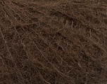 Knitted as 4 ply Fiber Content 40% Polyamide, 30% Kid Mohair, 30% Acrylic, Brand Ice Yarns, Dark Brown, Yarn Thickness 1 SuperFine  Sock, Fingering, Baby, fnt2-53879