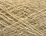 Fiberinnhold 80% polyamid, 10% paljetter, 10% Polyester, Brand Ice Yarns, Cream, fnt2-53975