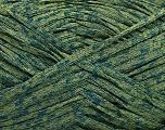 Fiber Content 60% Acrylic, 40% Viscose, Brand Ice Yarns, Green Shades, fnt2-53997