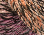 Fiber Content 90% Acrylic, 10% Wool, Pink, Orange, Brand Ice Yarns, Brown, fnt2-54021