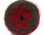 Fiberinnhold 63% Akryl, 37% Ull, Red, Brand Ice Yarns, Green, Burgundy, fnt2-54045