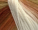 Fiber Content 44% Wool, 40% Acrylic, 16% Polyamide, White, Brand ICE, Brown Shades, Yarn Thickness 5 Bulky  Chunky, Craft, Rug, fnt2-54059