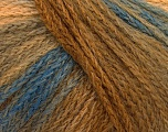 Fiber Content 44% Wool, 40% Acrylic, 16% Polyamide, Brand ICE, Brown Shades, Blue, Yarn Thickness 5 Bulky  Chunky, Craft, Rug, fnt2-54061