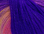 Fiber Content 44% Wool, 40% Acrylic, 16% Polyamide, Purple, Pink, Brand ICE, Gold, Yarn Thickness 5 Bulky  Chunky, Craft, Rug, fnt2-54063