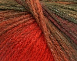 Fiber Content 44% Wool, 40% Acrylic, 16% Polyamide, Orange, Khaki, Brand ICE, Brown, Yarn Thickness 5 Bulky  Chunky, Craft, Rug, fnt2-54065