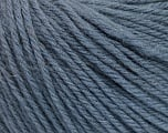 Fiber Content 100% Wool, Smoke Blue, Brand Ice Yarns, Yarn Thickness 4 Medium  Worsted, Afghan, Aran, fnt2-54117
