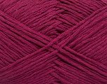 Please note that the yarn weight and the ball length may vary from one color to another for this yarn. Fasergehalt 100% Baumwolle, Brand Ice Yarns, Dark Fuchsia, fnt2-54133