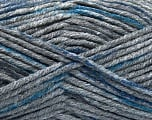 Fiberinnhold 80% Akryl, 20% polyamid, Brand Ice Yarns, Dark Grey, Blue, Anthracite Black, fnt2-54134