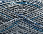 Fiber Content 80% Acrylic, 20% Polyamide, Brand ICE, Dark Grey, Blue, Anthracite Black, Yarn Thickness 5 Bulky  Chunky, Craft, Rug, fnt2-54134