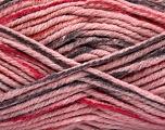 Fiber Content 80% Acrylic, 20% Polyamide, Pink, Brand ICE, Fuchsia, Dark Grey, Yarn Thickness 5 Bulky  Chunky, Craft, Rug, fnt2-54135