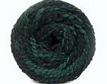 Contenido de fibra 38% Lana, 32% Acrílico, 20% Alpaca, 10% Poliamida, Brand Ice Yarns, Green, Black, fnt2-54180