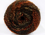 Fiberinnhold 38% Ull, 32% Akryl, 20% Alpakka, 10% polyamid, Orange, Brand Ice Yarns, Camel, Brown Shades, Black, fnt2-54181