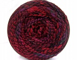 Fiber indhold 38% Uld, 32% Akryl, 20% Alpaka, 10% Polyamid, Red, Purple, Maroon, Brand Ice Yarns, Burgundy, Black, fnt2-54182