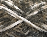 Fiber Content 70% Micro Fiber, 30% Polyamide, White, Brand Ice Yarns, Brown Shades, Yarn Thickness 5 Bulky  Chunky, Craft, Rug, fnt2-54197