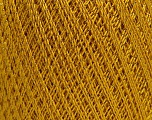 Ne: 10/3 Nm: 17/3 Fiber Content 96% Mercerised Cotton, 4% Metallic Lurex, Brand ICE, Gold, Yarn Thickness 1 SuperFine  Sock, Fingering, Baby, fnt2-54247