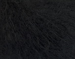 Knitted as 4 ply Fasergehalt 40% Polyamid, 30% Acryl, 30% Kid Mohair, Brand Ice Yarns, Black, fnt2-54274
