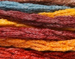 Composição 66% Acrílico, 24% Lã, 10% Poliamida, Yellow, Orange, Brand Ice Yarns, Burgundy, Brown, Blue, fnt2-54335