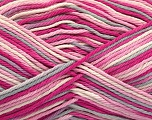 Contenido de fibra 100% Algodón, White, Pink Shades, Light Grey, Brand Ice Yarns, fnt2-54353