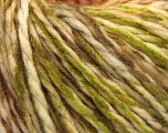 Fiber Content 70% Acrylic, 30% Wool, Brand ICE, Green, Cream, Copper, Brown, fnt2-54369
