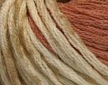 Fiber Content 50% Wool, 50% Acrylic, Light Salmon, Khaki, Brand Ice Yarns, Cream, fnt2-54381