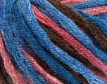 Fiber Content 50% Acrylic, 50% Wool, Salmon, Brand Ice Yarns, Brown, Blue Shades, fnt2-54383