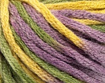 Fiber Content 50% Acrylic, 50% Wool, Yellow, Lilac, Brand Ice Yarns, Green, fnt2-54384