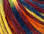 Fiber Content 50% Acrylic, 50% Wool, Yellow, Orange, Brand Ice Yarns, Burgundy, Blue, fnt2-54388