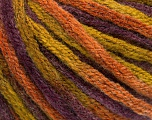 Fiber Content 50% Wool, 50% Acrylic, Purple, Olive Green, Brand Ice Yarns, Copper, fnt2-54410