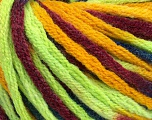 Fiber Content 50% Wool, 50% Acrylic, Neon Green, Brand Ice Yarns, Gold, Burgundy, Blue, fnt2-54412