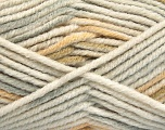 Fiber Content 80% Acrylic, 20% Polyamide, White, Light Grey, Khaki, Brand Ice Yarns, Beige, Yarn Thickness 5 Bulky  Chunky, Craft, Rug, fnt2-54414