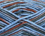 Fiber Content 80% Acrylic, 20% Polyamide, Brand Ice Yarns, Grey, Brown, Blue, fnt2-54419