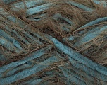 Fiber Content 70% Micro Fiber, 30% Polyamide, Turquoise, Brand Ice Yarns, Brown, Yarn Thickness 5 Bulky  Chunky, Craft, Rug, fnt2-54446