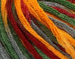 Fiber Content 50% Acrylic, 50% Wool, Brand Ice Yarns, Grey, Green, Gold, Burgundy, fnt2-54485