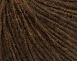 Fasergehalt 50% Merinowolle, 25% Acryl, 25% Alpaka, Brand Ice Yarns, Brown Melange, fnt2-54500