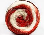 Fiber Content 90% Acrylic, 10% Polyamide, White, Red Shades, Orange Shades, Brand Ice Yarns, fnt2-54527