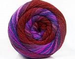 Fiber Content 90% Acrylic, 10% Polyamide, Lilac Shades, Brand Ice Yarns, Burgundy, fnt2-54530