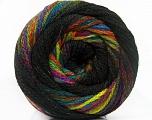 Fiber Content 90% Acrylic, 10% Polyamide, Rainbow, Brand Ice Yarns, Black, fnt2-54531