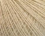 Fiber indhold 65% Akryl, 15% Alpaka, 10% Uld, 10% Viskose, Brand Ice Yarns, Cream, fnt2-54540