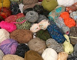 Leftover Yarns Please note that this mixed lot includes unlabeled leftover yarns. There is no standard for fiber content and weight. Skein weight given for this lot is average. Brand Ice Yarns, fnt2-54635