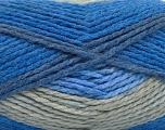 Fiber Content 70% Acrylic, 30% Wool, Brand ICE, Grey, Blue Shades, Yarn Thickness 4 Medium  Worsted, Afghan, Aran, fnt2-54677