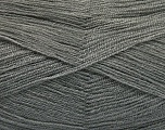 Very thin yarn. It is spinned as two threads. So you will knit as two threads. Yardage information is for only one strand. Fiber Content 100% Acrylic, Light Grey, Brand Ice Yarns, Yarn Thickness 1 SuperFine  Sock, Fingering, Baby, fnt2-54680
