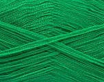 Very thin yarn. It is spinned as two threads. So you will knit as two threads. Yardage information is for only one strand. Fiber Content 100% Acrylic, Brand ICE, Emerald Green, Yarn Thickness 1 SuperFine  Sock, Fingering, Baby, fnt2-54685