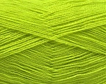 Very thin yarn. It is spinned as two threads. So you will knit as two threads. Yardage information is for only one strand. Fiber Content 100% Acrylic, Light Green, Brand ICE, Yarn Thickness 1 SuperFine  Sock, Fingering, Baby, fnt2-54689