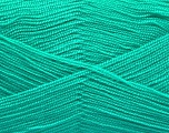 Very thin yarn. It is spinned as two threads. So you will knit as two threads. Yardage information is for only one strand. Fiber Content 100% Acrylic, Light Emerald Green, Brand ICE, Yarn Thickness 1 SuperFine  Sock, Fingering, Baby, fnt2-54690
