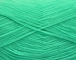 Very thin yarn. It is spinned as two threads. So you will knit as two threads. Yardage information is for only one strand. Fiber Content 100% Acrylic, Mint Green, Brand Ice Yarns, Yarn Thickness 1 SuperFine  Sock, Fingering, Baby, fnt2-54691