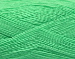 Very thin yarn. It is spinned as two threads. So you will knit as two threads. Yardage information is for only one strand. Fiber Content 100% Acrylic, Light Mint Green, Brand Ice Yarns, Yarn Thickness 1 SuperFine  Sock, Fingering, Baby, fnt2-54692